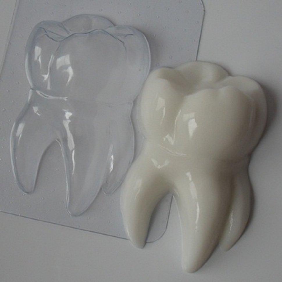 Макет зуба из бумаги
